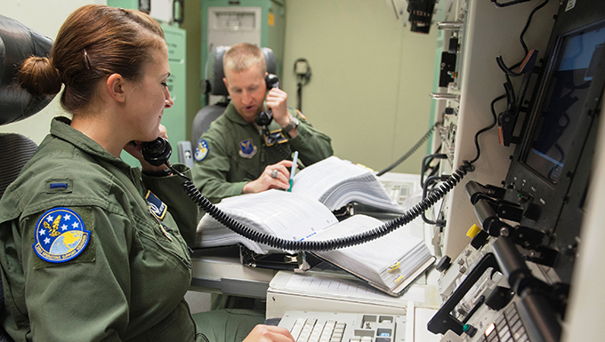 Missileers in Launch Control Center