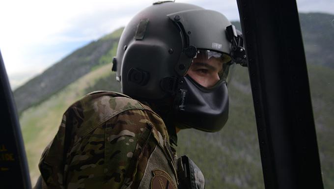 Airman on UH-1N